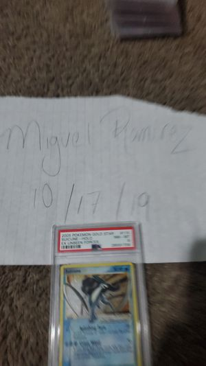 2005 SUICUNE GOLD STAR POKEMON PSA 8 for Sale in Evans, CO