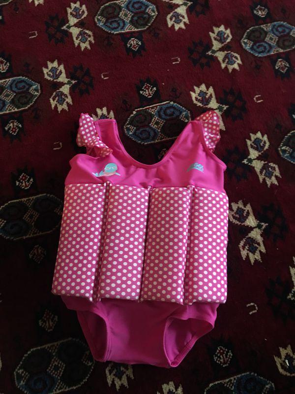 Girls swimming life jacket