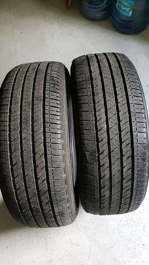 Bridgestone in good condition 2 tires 205 55 16 good tread for Sale in New Port Richey, FL