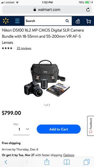 Nikon D5100 for Sale in Methuen, MA