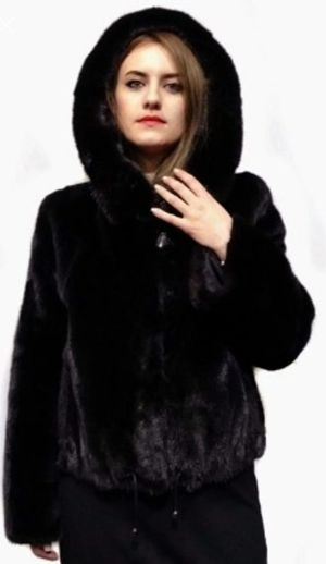 Stylish Faux Fur Mink Hooded Coat for Sale in Silver Spring, MD