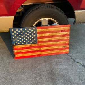 Rustic Wood American Flag for Sale in Fort Pierce, FL