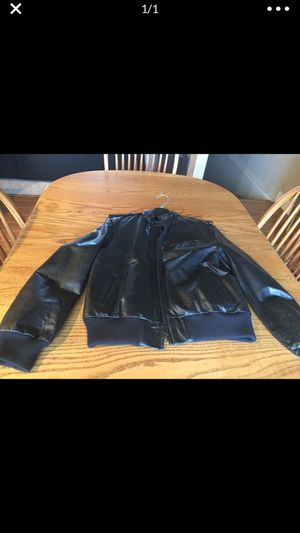 Black leather insulated motorcycle jacket for Sale in Butte, MT