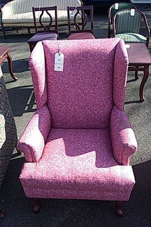 Pink wingback chair for Sale in Camden, NJ