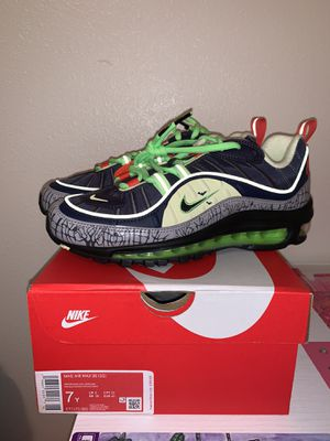 Nike Air Max 98 GS Halloween edition size 7y for Sale in Lynnwood, WA