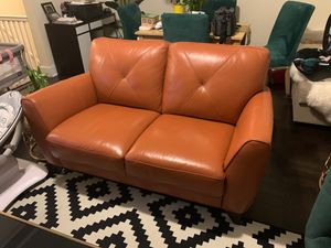 Genuine leather sofa -almost new for Sale in The Bronx, NY