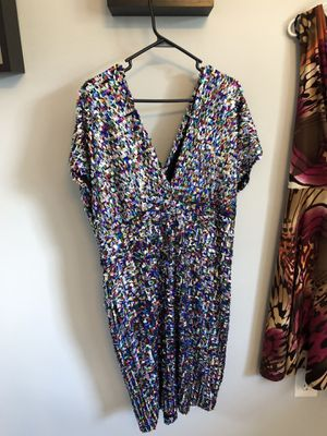 Multi colored sequin dress size 18/20 for Sale in West Springfield, VA