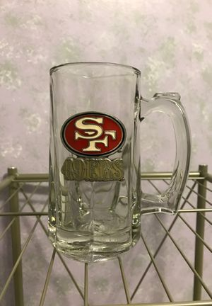 San Francisco 49ers glass beer mug for Sale in Turlock, CA