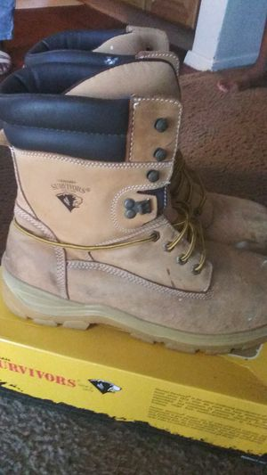 Herman Survivors Steel Toe Work Boots asking 20$ size 13 in Fair Condition for Sale in Dallas, TX