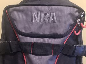 Official NRA Rolling carry-on luggage Black / Grey wheels for Sale in Murfreesboro, TN