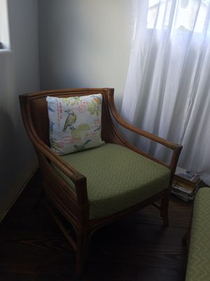 Armchair and ottoman set for Sale in Fort Pierce, FL