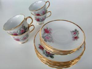 Vintage rose gold trim dish set for Sale in Nicholasville, KY