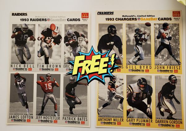 Free mcdonalds nfl cards 1993