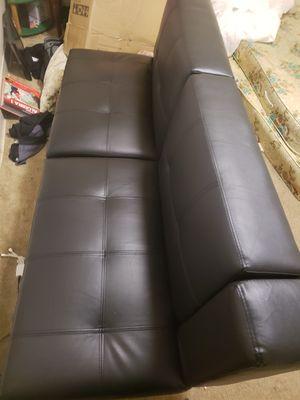 Sofa bed futon leather. for Sale in Seneca, SC