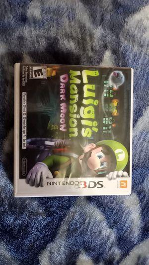 Luigi Mansion Dark Moon for 3ds for Sale in Glendale, AZ