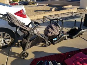 Safety first stroller plus car seat 2 bases for Sale in Phoenix, AZ