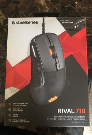 Steelseries Rival 710 Elite Performance Gaming Mouse for Sale in Alexandria, VA