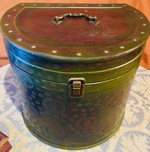 Decorative vintage style box Leather like finish, Lira theme for Sale in Chandler, AZ