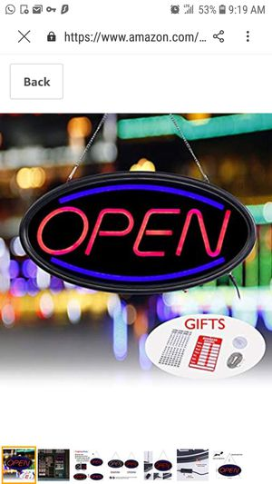 *Open Sign for Sale in Queens, NY