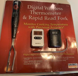 NEW Digital wireless BBQ thermometer & fork. Great for grill, barbecue, cooking perfect steak, chicken, fish, etc. for Sale in Vista, CA