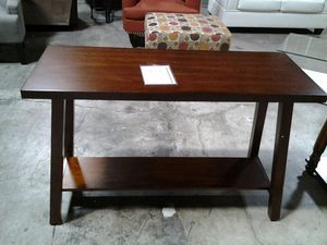 Polished Deep Oak Country-Style Dual Level Console Table for Sale in Jessup, MD
