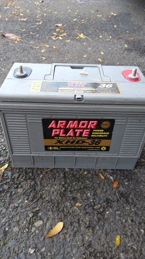 12 volt armor plate battery deep cycle for Sale in Gresham, OR