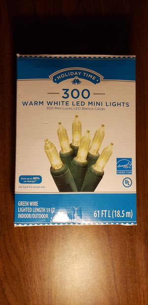 300 Indoor & Outdoor LED Warm White Lights, 61 feet for Sale in Chamblee, GA