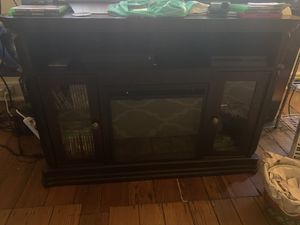 Electric fireplace tv stand for Sale in Murfreesboro, TN