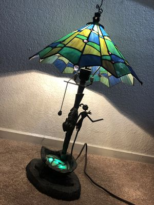 The nightmare before Christmas limited edition Disney Tiffany style lamp for Sale in Sacramento, CA