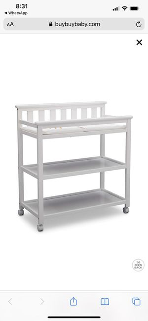 Changing table with changing pad for Sale in Westwood, MA