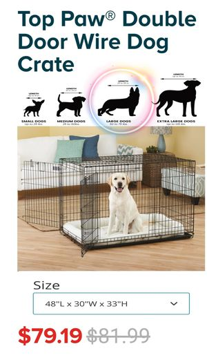 Large double door wire dog crate for Sale in Santa Teresa, NM