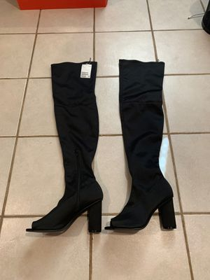 Thigh-High boots with open toe for Sale in Manassas, VA