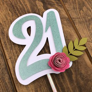 21st Birthday spring Floral Cake Topper for Sale in San Diego, CA