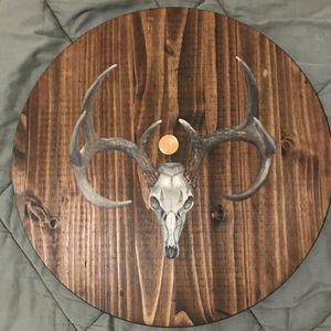 21 inch wood painting original w/ copper leaf for Sale in Dallas, TX