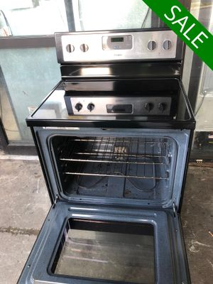 😍😍Electric Stove Oven Whirlpool Glass Top Stainless Steel #836😍😍 for Sale in Sanford, FL