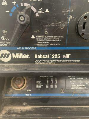 Commercial Grade Welder/ Generator . Miller Bobcat 225NT for Sale in Plainfield, IL