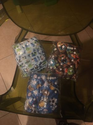 Set of reusable diapers with inserts for Sale in Torrance, CA
