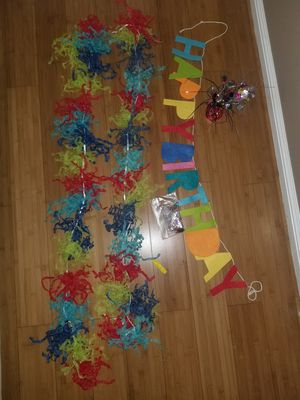 Free Birthday Garland for Sale in HILLTOP MALL, CA