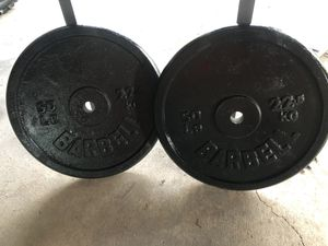 Pair of 50lb weights priced to sale quick.First come first served.Message when ready to pick them up.I will not hold them. for Sale in Kalamazoo, MI