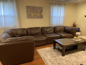 Brown leaders! It's sofa and love seat (used normal) for Sale in Burke, VA