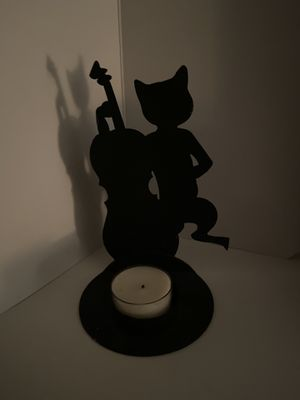 Musical cat candle holder for Sale in Camden, NJ