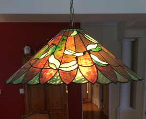 Vintage Leaded Glass Lamp for Sale in Durham, NC