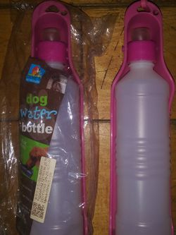 Brand New Pink Dog Travel Water Bottle X2 for Sale in Torrance,  CA