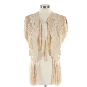 Amazing Victorian Silk Knit Shawl with Hand Embroidery and Hand Knotted Fringe for Sale in Denver, CO