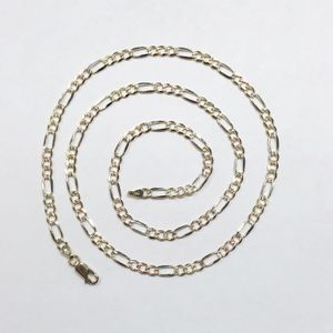 """14kt Tri-Color Gold Unisex Figaro Chain 24"""" $649.99 for Sale in Tampa, FL"""