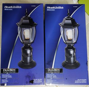 2 HeathZenith Duel Bright post lamps for Sale in UNIVERSITY PA, MD