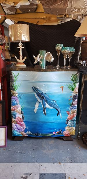 Hand painted Humpback whale Dresser tropical beach coastal for Sale in NEW PRT RCHY, FL