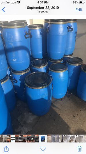 High density plastic barrels for Sale in Clearwater, FL