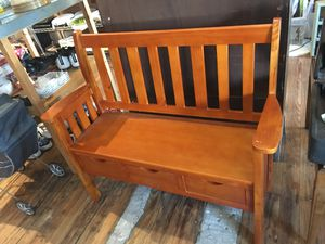 Wooden storage bench for Sale in Lathrop, MO