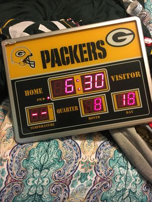 Packers alarm clock for Sale in Converse, TX